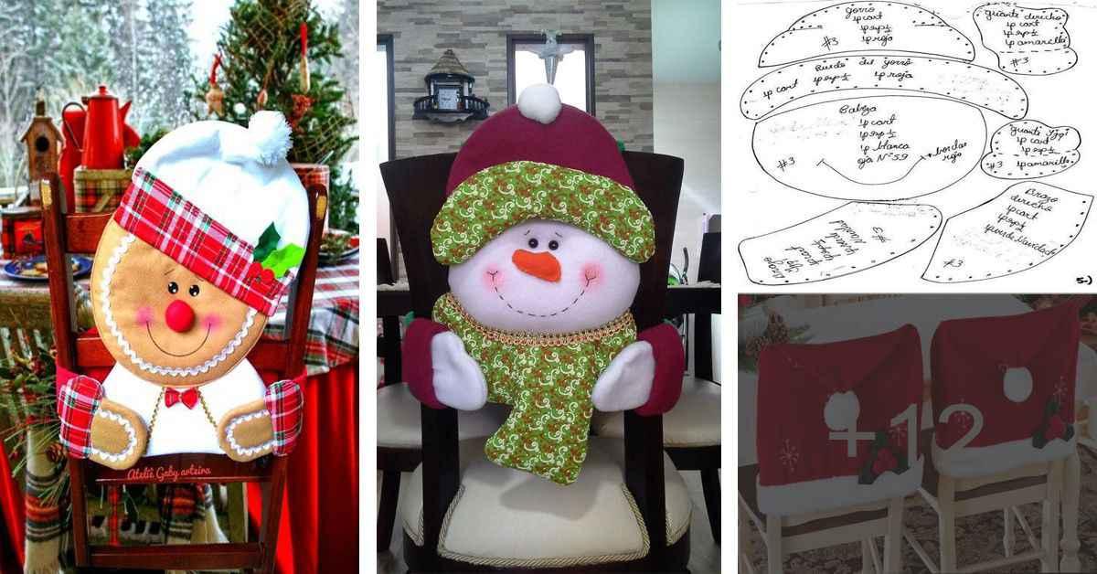 Aprende cómo hacer hermosas fundas de navidad para tus sillas