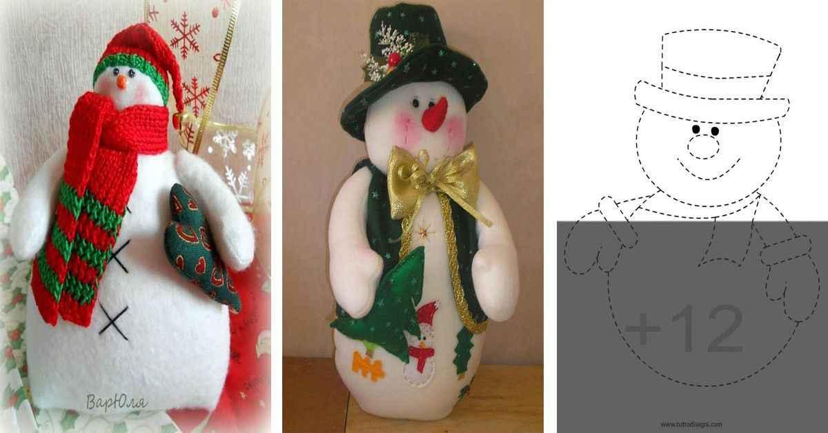 Aprende como hacer lindos muñecos de nieve con tela