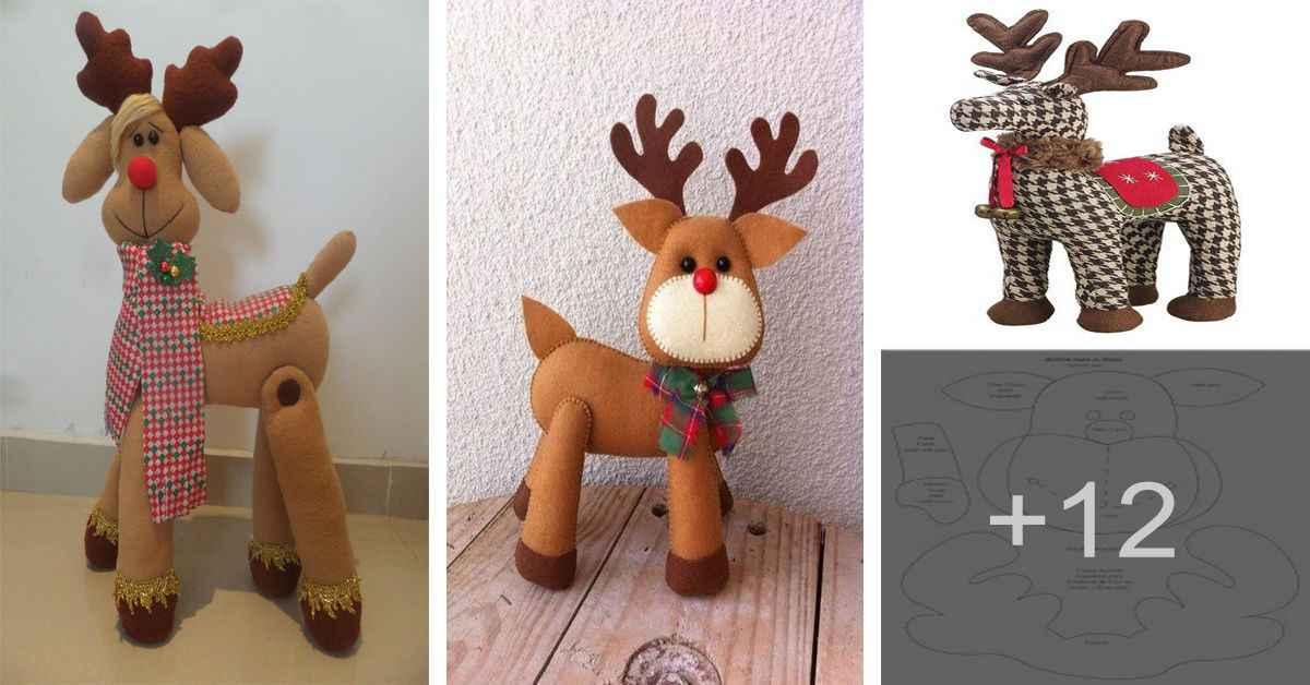 Aprende como crear hermoso reno de navidad en tela