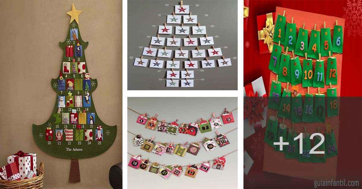 Cómo hacer un divertido calendario de adviento para navidad