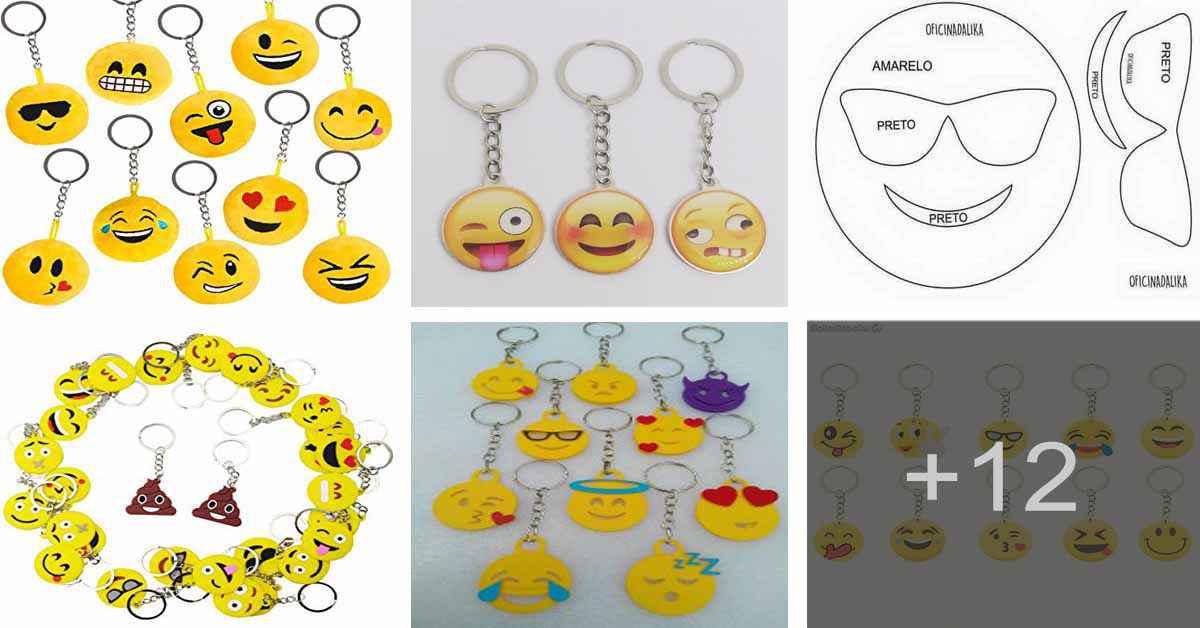 Aprende a hacer llaveros de emoji con goma eva