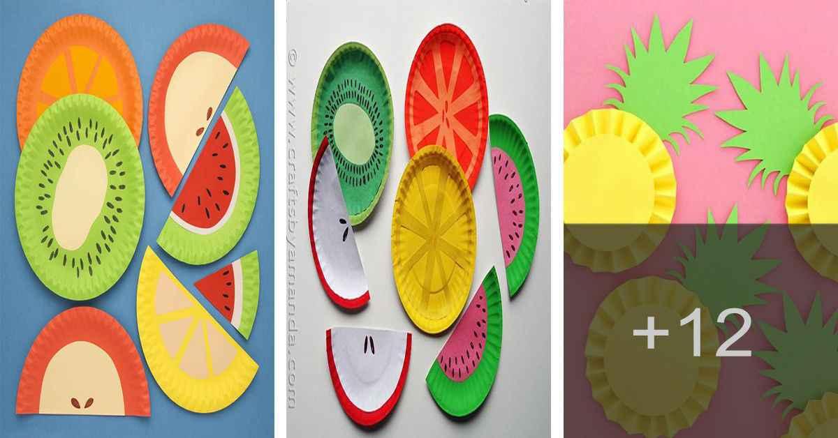 Aprende como hacer frutas de platos con cartón reciclado