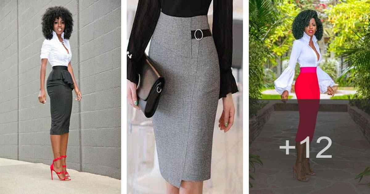 Aprende cómo confeccionar una falda estilo tubo