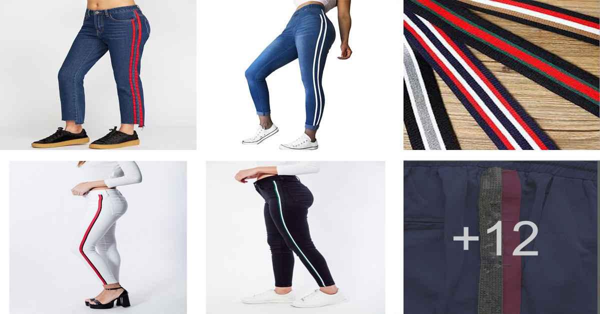 Aprende como coser pantalones de rayas laterales